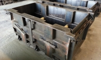 Steel concrete block moulds